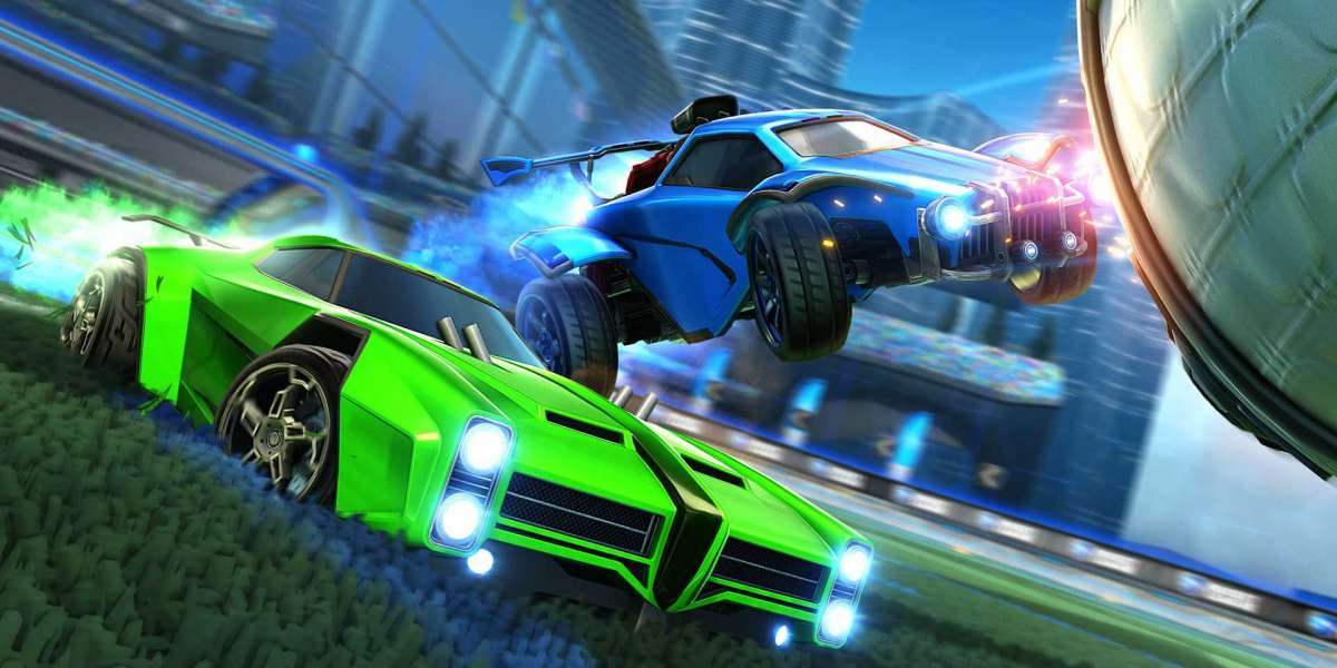 Even though you only see one car within the Rocket League