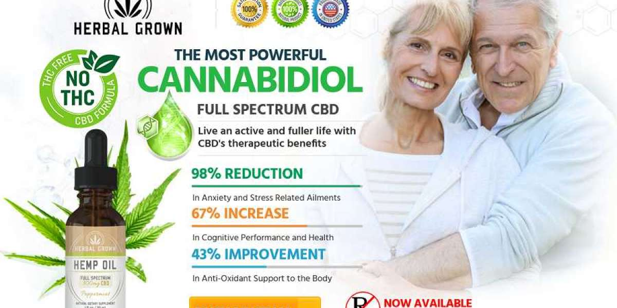 Herbal Grown CBD Oil - Reduce Pains And Anxiety Level!