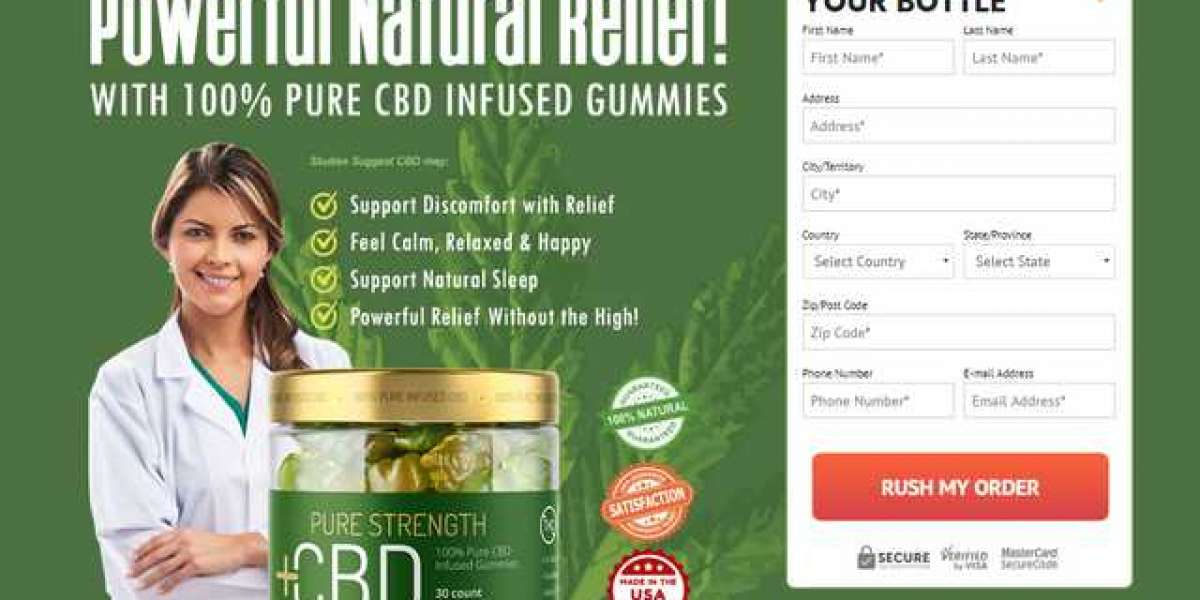 Pure Strength CBD Gummies Help To Kill Anxiety And Stress Level!